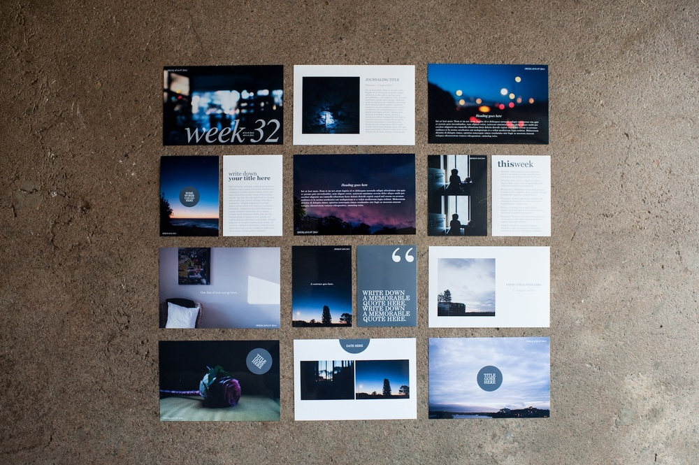 The Signature Card Set, The Serif Edition - Life album templates by LIFE:CAPTURED Inc (The modern school of memory keeping)
