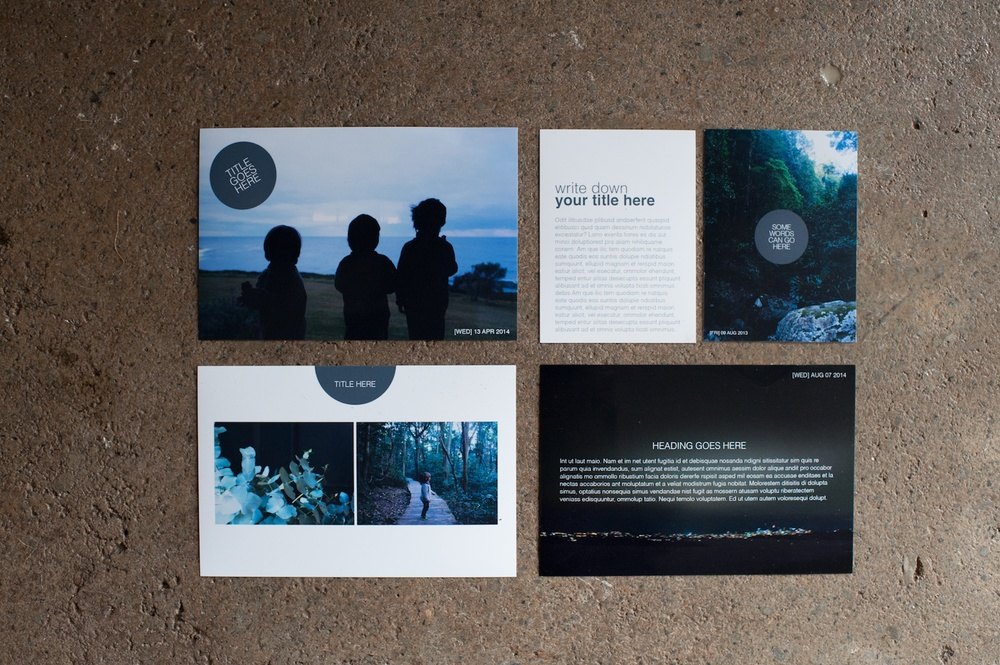 The Signature Card Set, The Sans Serif Edition - Life album templates by LIFE:CAPTURED Inc (The modern school of memory keeping)