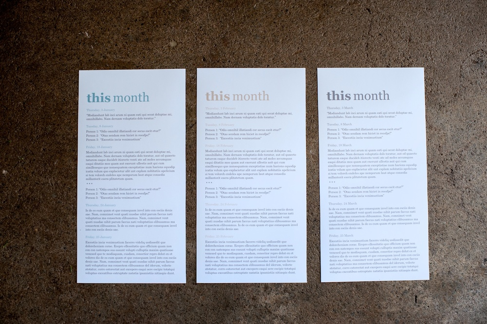 'This Month' Journaling Insert (6x12), The Serif Edition - Life album templates by LIFE:CAPTURED Inc (The modern school of memory keeping)