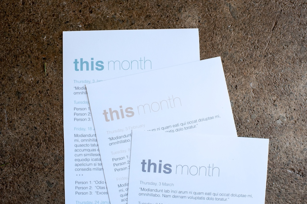 'This Month' Journaling Insert (6x12), The Sans Serif Edition - Life album templates by LIFE:CAPTURED Inc (The modern school of memory keeping)
