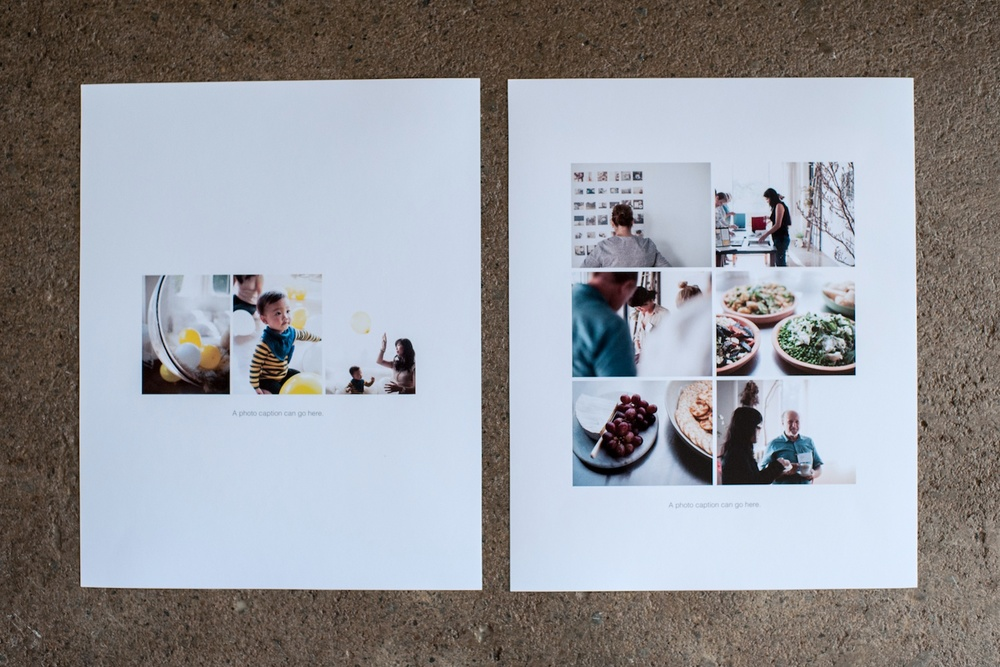 Special Event Inserts (8x10), The Sans Serif Edition - Life album templates by LIFE:CAPTURED Inc (The modern school of memory keeping)