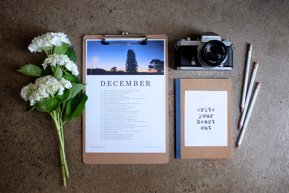 The #lifecapturedproject - A monthly journaling and photography challenge by LIFE:CAPTURED Inc (The modern school of memory keeping)