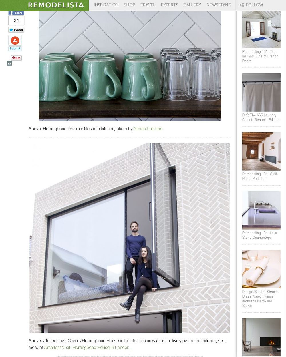 Remodelista Online Herringbone Trend April 2014
