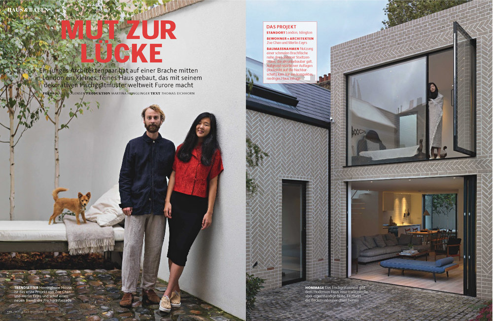 Schoner Wohnen (Print Editorial) - Germany Chan + Eayrs Feature Story: Herringbone House 2015