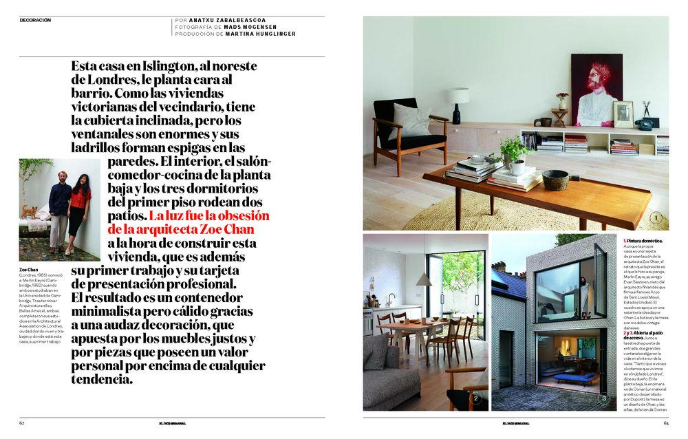 El Pais (Print Editorial) - Spain Chan + Eayrs Herringbone House 2015