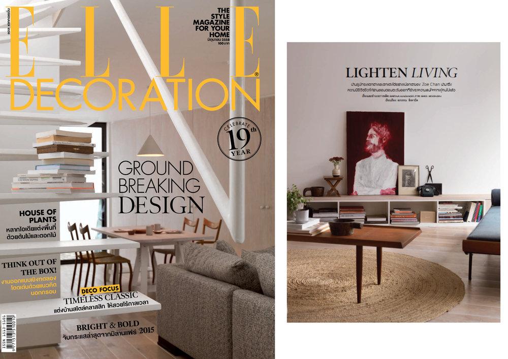 Elle Deco Cover Story (Print - Editorial) -Thailand Chan + Eayrs Herringbone House 2015