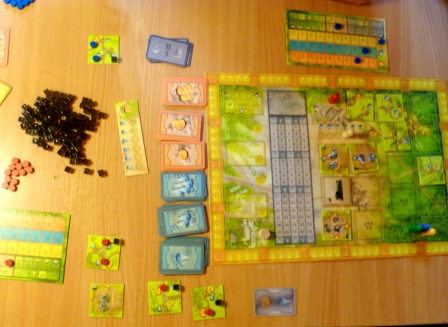 20th Century Gameboard and my start tiles (bottom left hand corner)