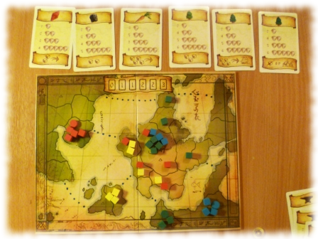 Eight Minute Empire takes...well, about 15-20 minutes, actually, but you get the idea: it's quick to play.