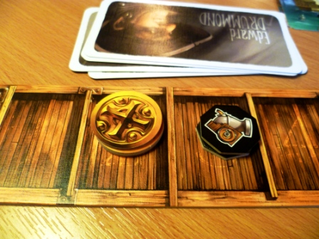 2 of my 5 holds -3 doubloons and a couple of shot - meagre holdings indeed
