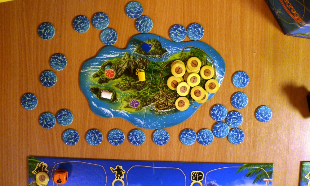 The Treasure and bonus chip island...some captains have already failed to keep hold of their chests...