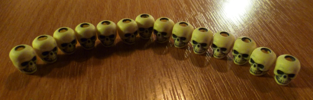My little collection of skulls in Zombie Dice.