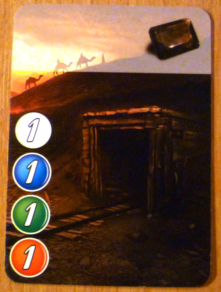 One of the cards in Splendor - this provides a single gem but no victory points.