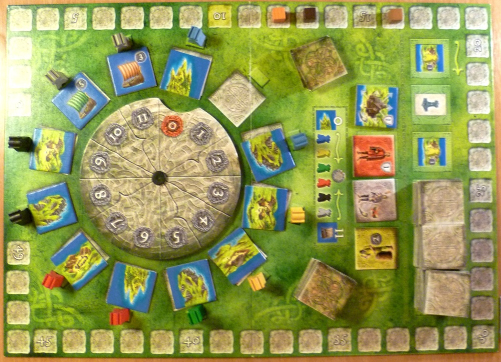 The game board, round 3 after the first action