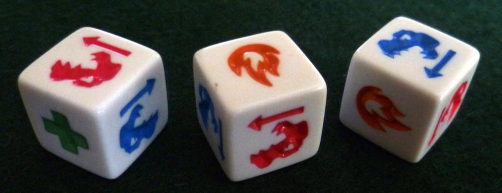 A set of dice - the game contains 20 dice allowing for advanced play.