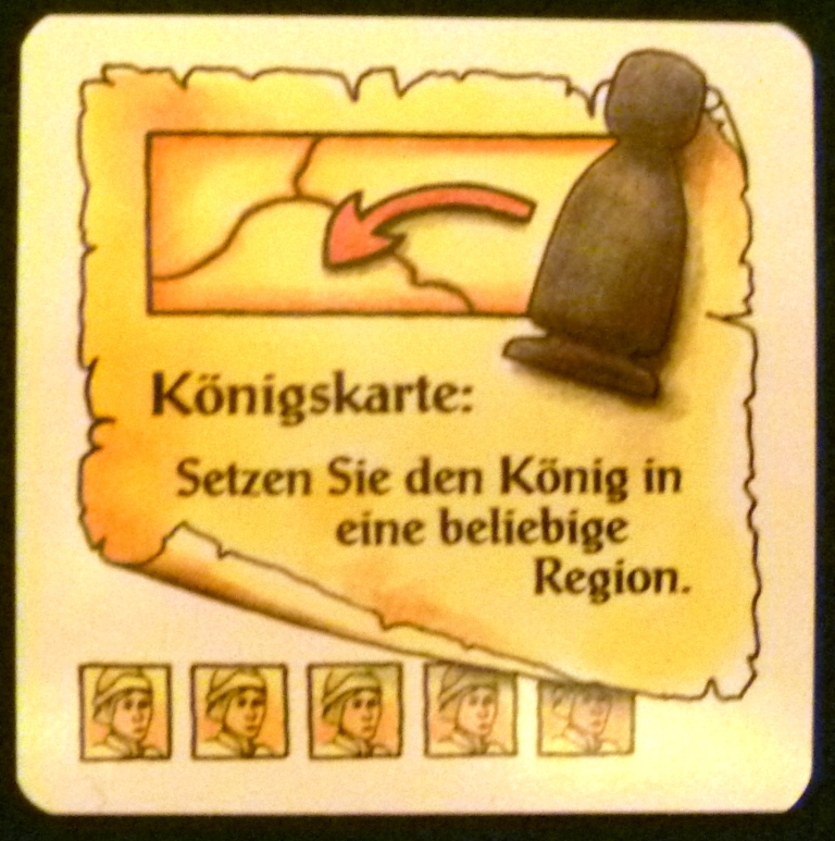 The King action card