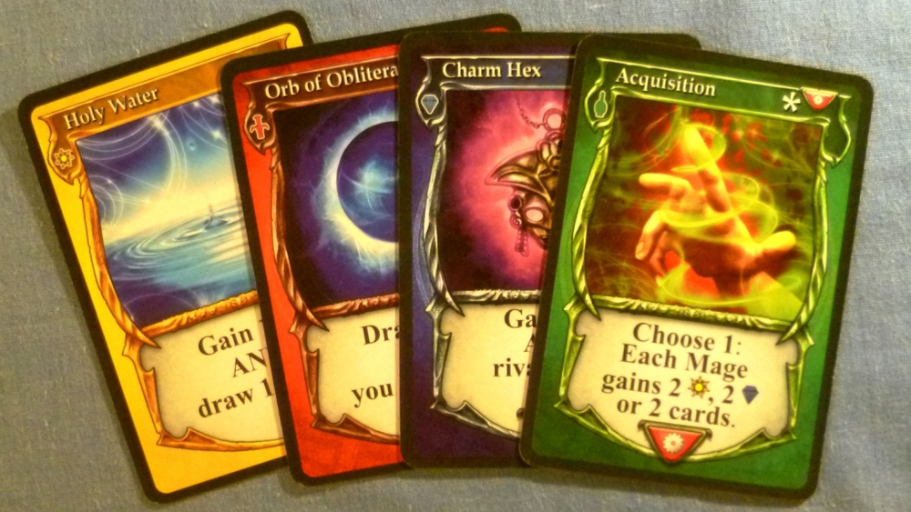 Four of the many spells available in Spellcaster