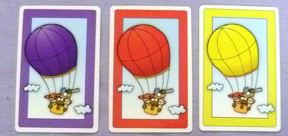 "The card on the left is purple in colour. This game is an excellent form of ""Brinkmanship"""
