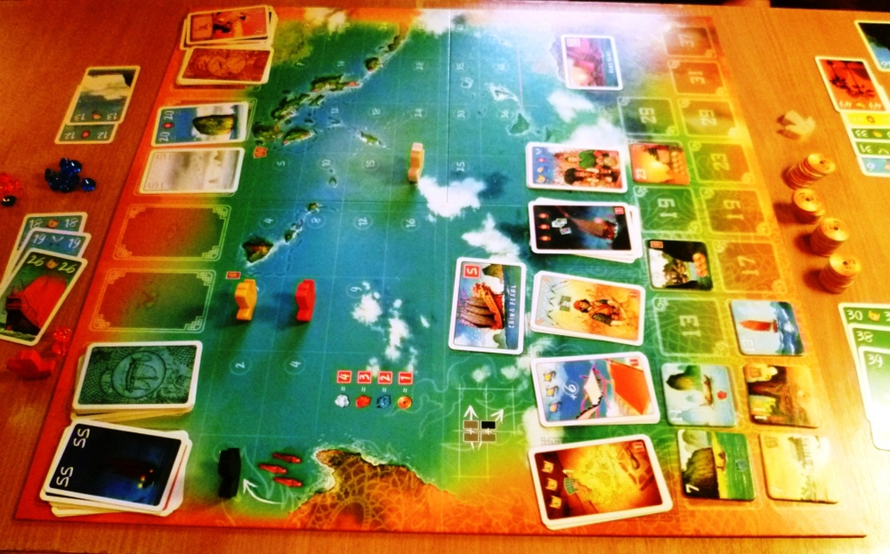 Board in the game Madame Ching