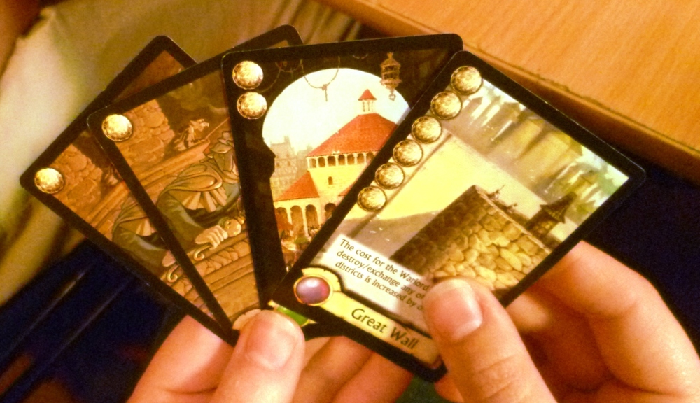 A players hand in Citadels