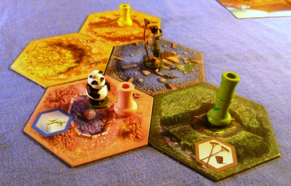 The Takenoko board early in the game
