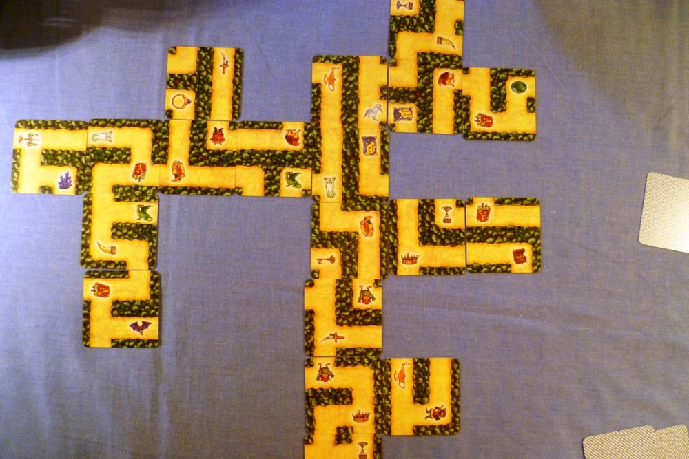 The Labyrinth layout 2/3 of the way through the game.