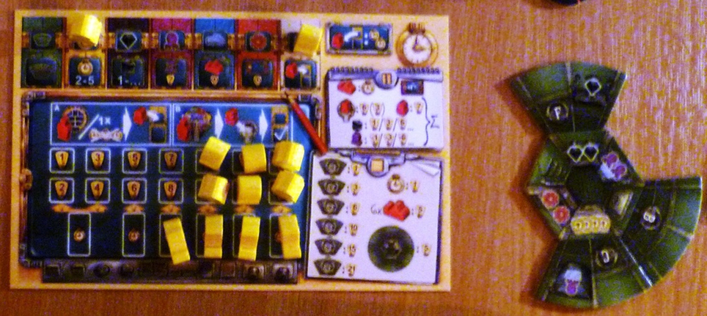 Player board and personal lab of the yellow player