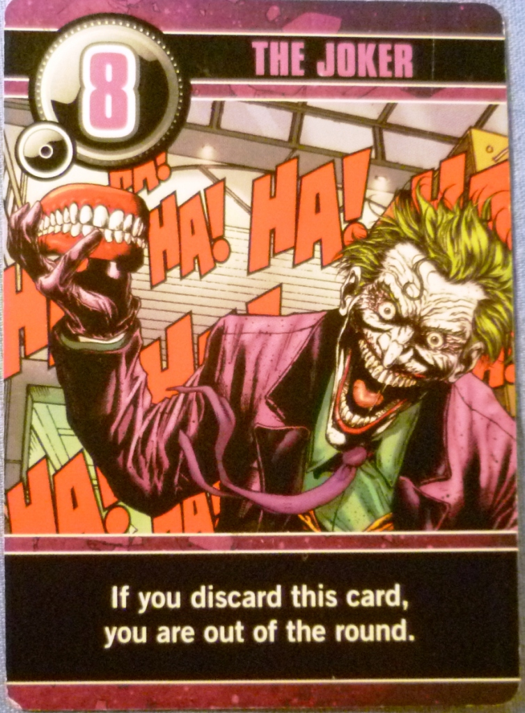 The Joker, the top ranked card