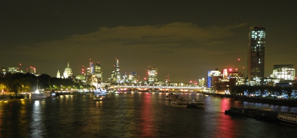 Waterloo bridge looking East