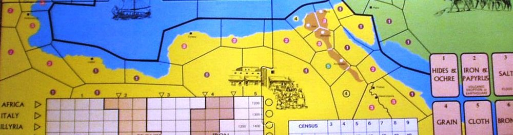 A section of the board in this classic game