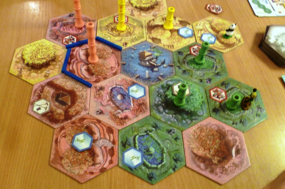 The Takenoko playing area slowly expanding