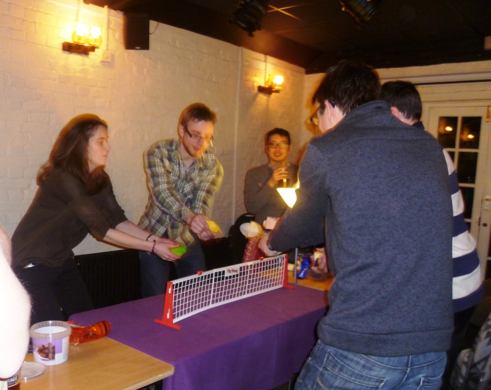 One of the more serious games played - Pig Pong
