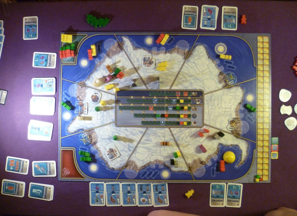 Antarctica Board mid-game