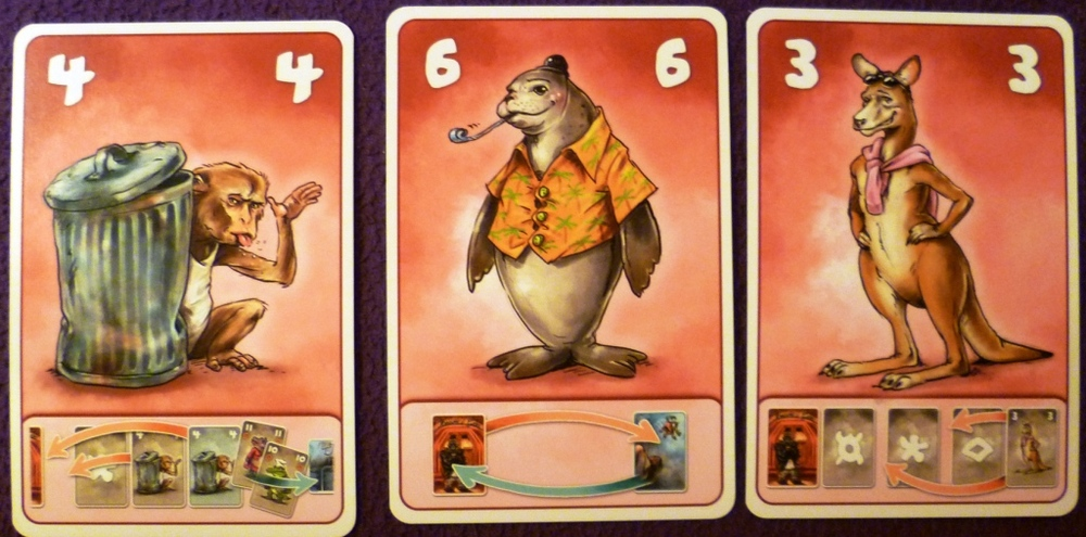 3 of the cards from my deck, the seal swaps the front of the queue for the back