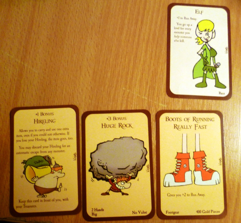 Some of the many many cards in Munchkin