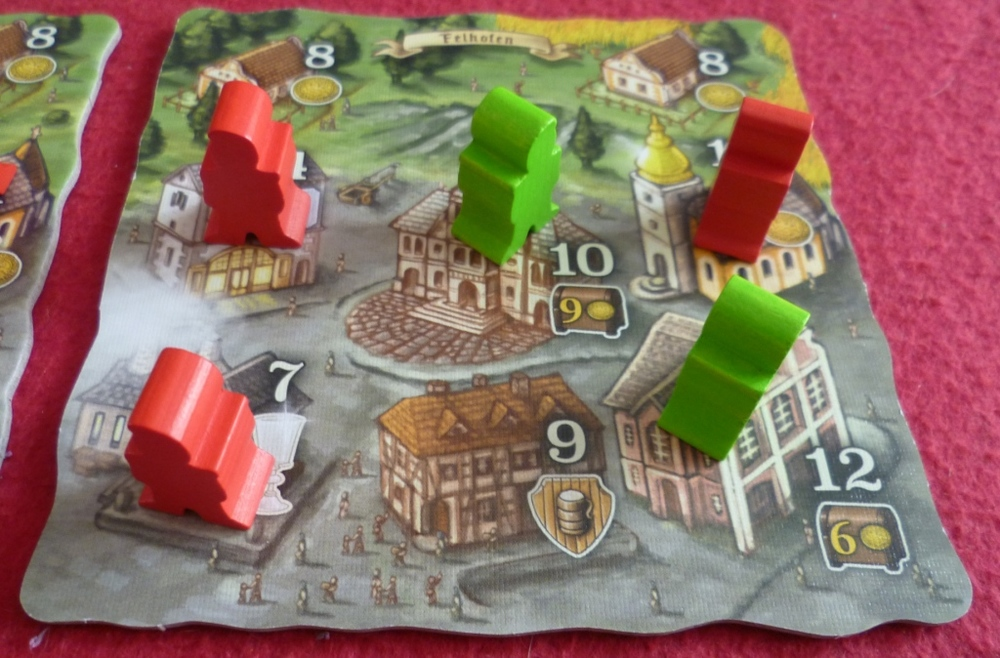 One of the villages in a 2 player game
