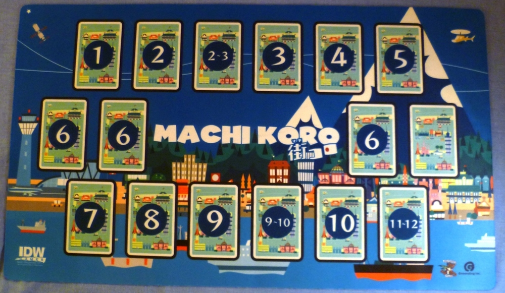 The deluxe version of Machi Koro comes with 2 expansions and a player mat