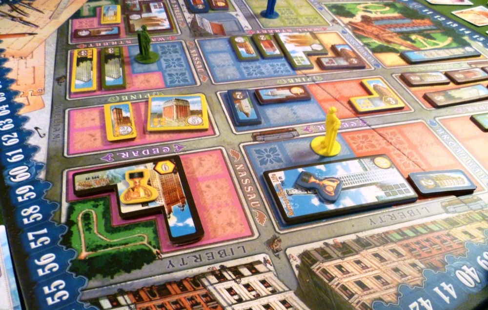 Part of the board mid-game