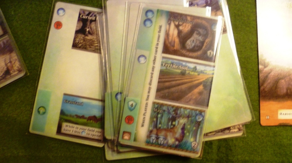 Mystic Vale sleeves containing 1, 2 or 3 card parts
