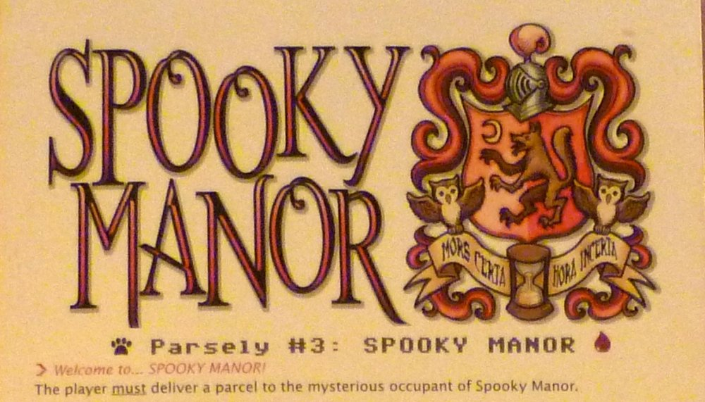 The players introduction to Spooky Manor,