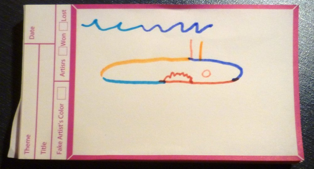 The artists drew this impression of a submarine