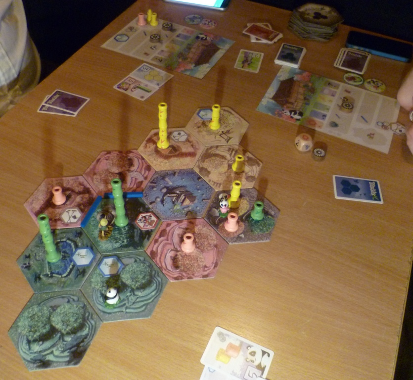 Takenoko about 1/4 into the game