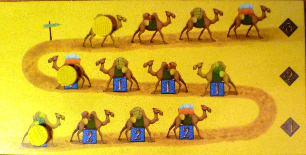 The camel train in Yspahan, a small but key part of the game