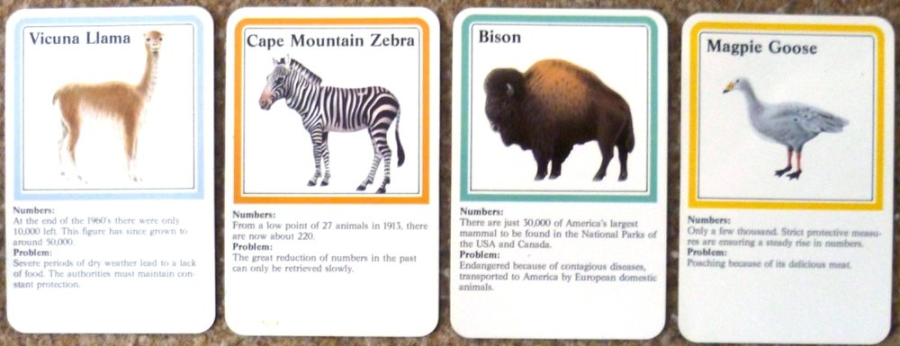 Some of the cards from Wildlife Adventure by Ravensburger