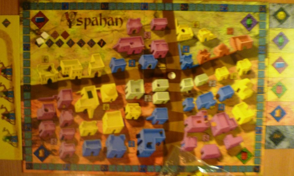 The Yspahan board, a bit fuzzy due to a sand-storm.