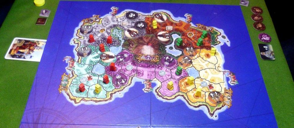Felinia board half showing the island