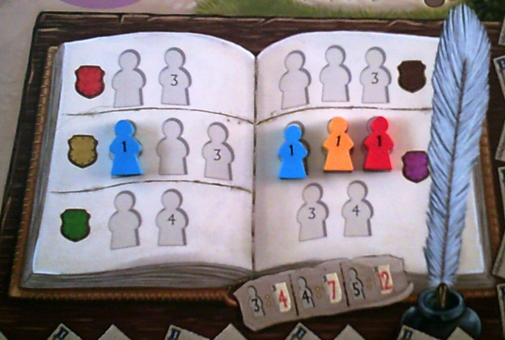 The book with game end points for members in the book shown at the bottom