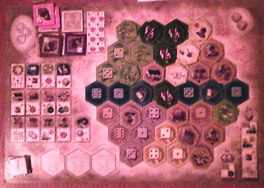 One of the boards from last weeks game, apologies for picture quality.