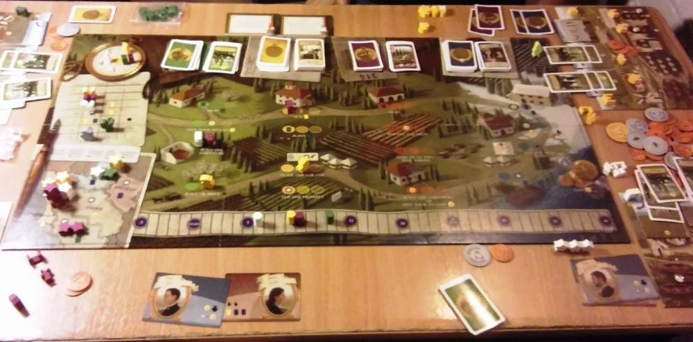 Viticulture mid-game - almost the bells and whistles version