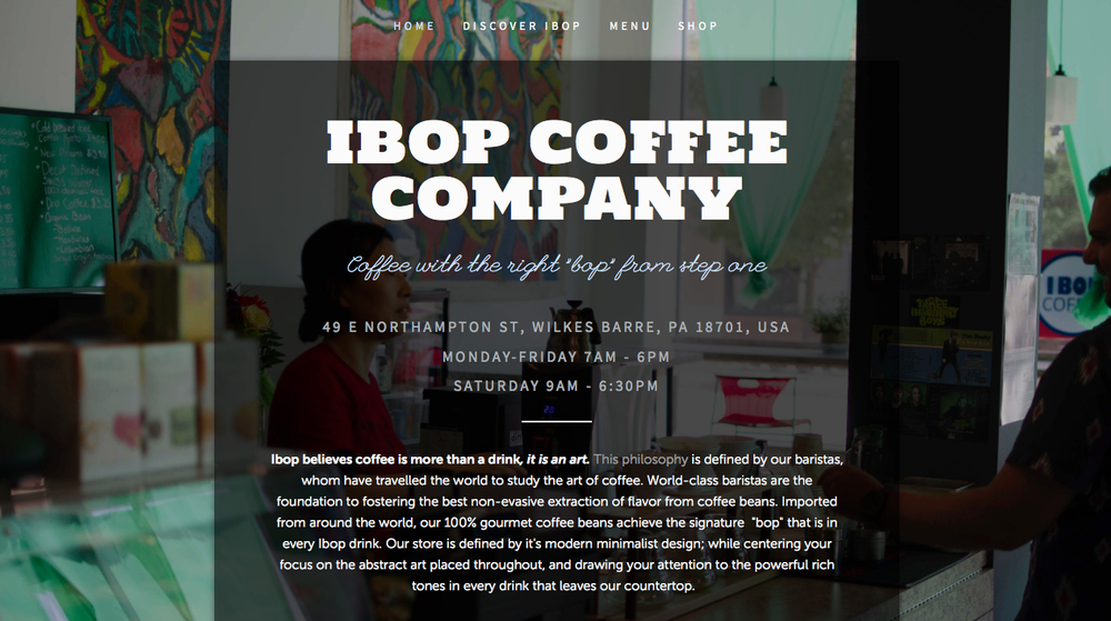 Ibop Coffee Homepage