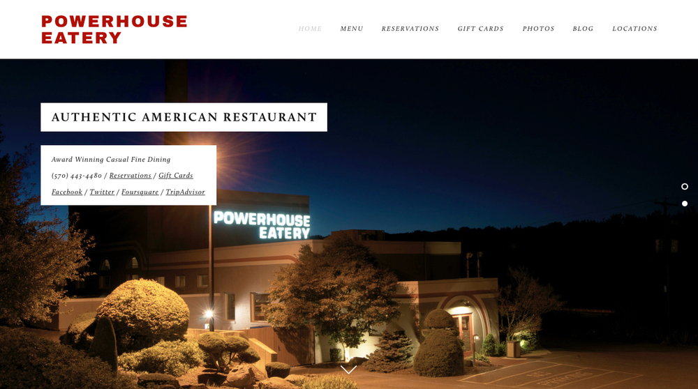 Powerhouse Eatery Homepage
